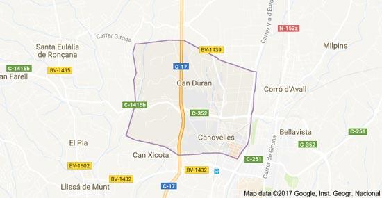 mapa-canovelles-cerrajeria